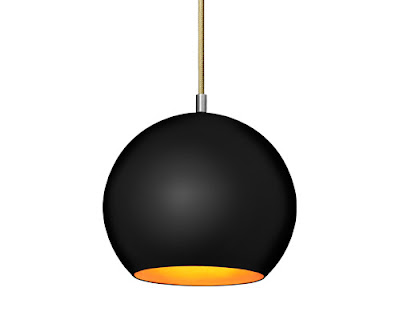 Topan VP6 Black Pendant Lamp w/black matte finish