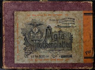 Agfa-Trockenplatten  - Kartonverpackung - um 1910