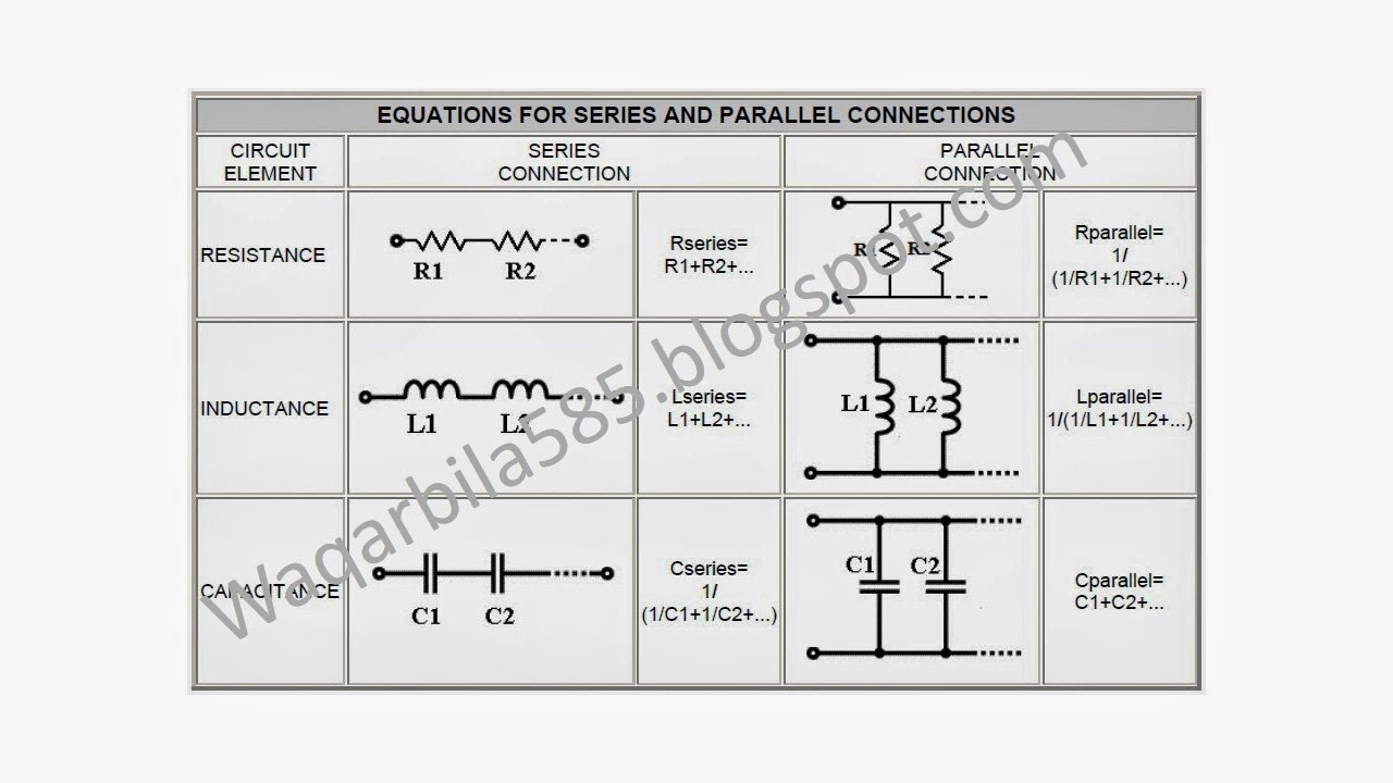 Series Parallel Circuit Formulas 1000 Images About Electrical On Formula And Download