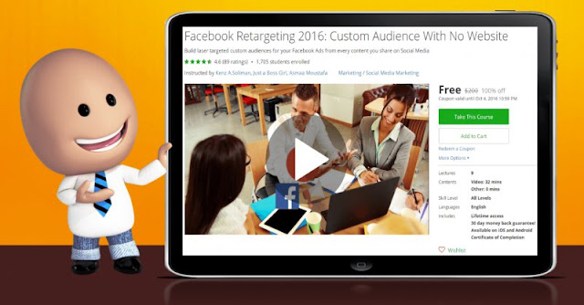 [100% Off] Facebook Retargeting 2016: Custom Audience With No Website| Worth 200$