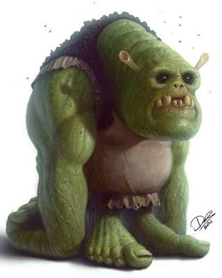 Shrek assustador desenho