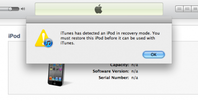 Click Ok to Proceed to Recovering iOS Devices