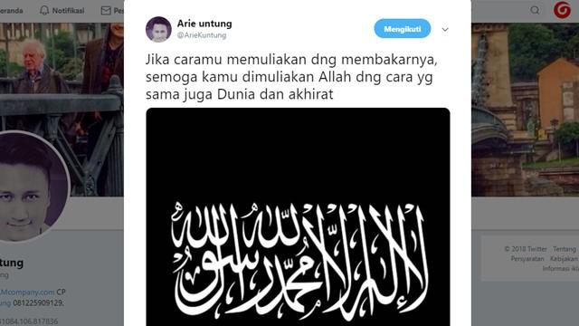 """Jawaban Menohok Arie Untung Soal """"Membakar Bendera Tauhid untuk Memuliakannya"""""""