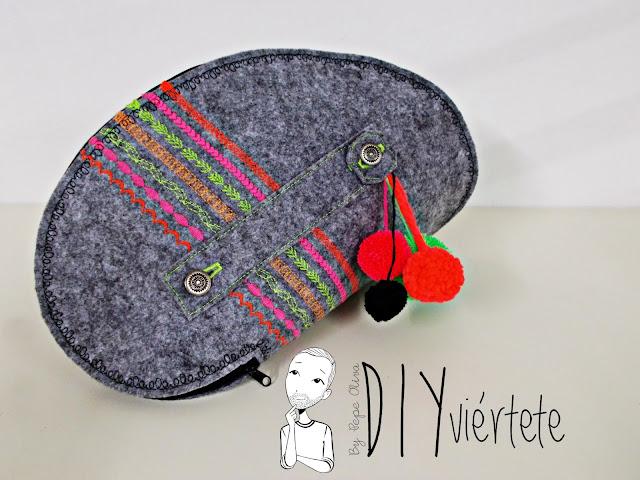 DIY-bolso-cartera-clutch-fieltro-fluor-pompones-puntadas-alfa-historiashiladas-costura-diseño-handbox-2