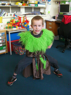 school play homemade costume troll billy goats gruff