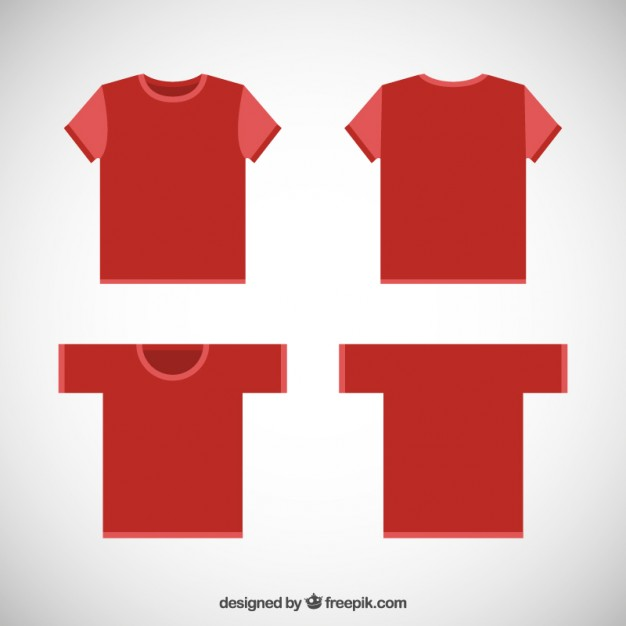 Download Template kaos merah