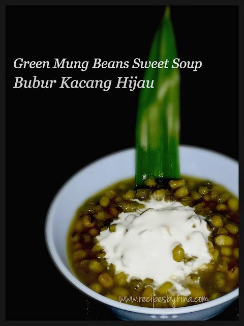 green mung beans , bubur kacang hijau