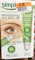 SIMPLE sensitive Skin Care revitalizing roller cooling depuffing under eye bags dark circles