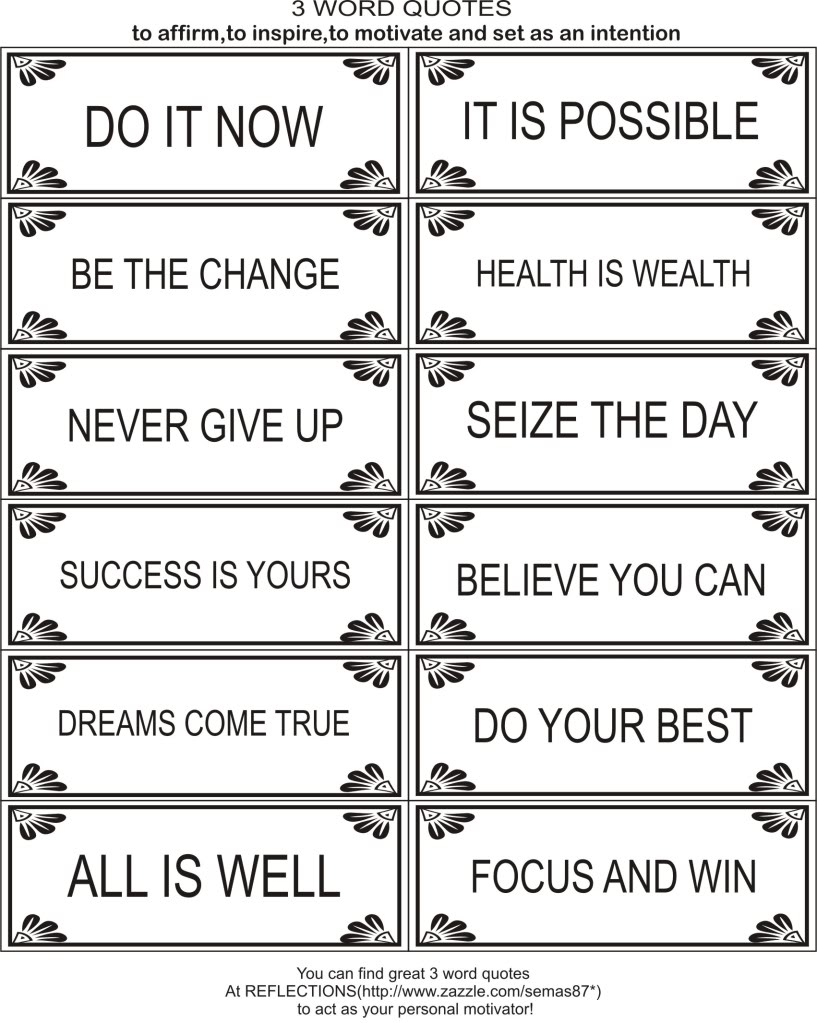 Two Word Motivational Quotes Quotesgram
