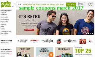 free CafePress coupons for march 2017
