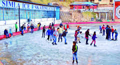 Ice skating rink in shimla
