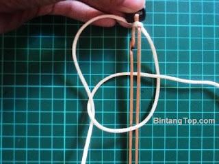 teknik macrame tali menjadi gelang