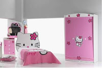 Dormitorio tema hello kitty