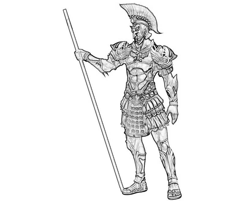 Greek Spartan Warrior Coloring Pages Coloring Pages