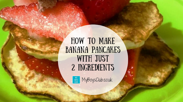 How to Make Banana Pancakes With Just Two Ingredients - Eggs and Banana - Gluten free too.
