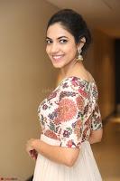 Ritu Varma smiling face Cream Anarkali dress at launch of OPPO New Selfie Camera F3 ~  Exclusive 070.JPG