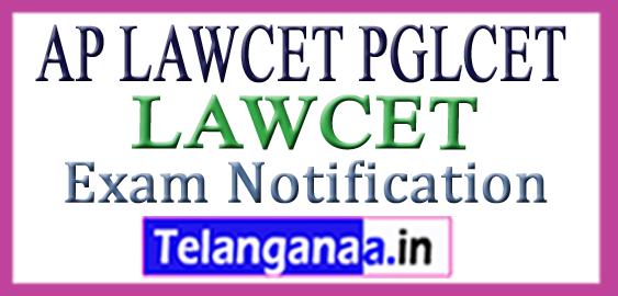 AP LAWCET PGLCET Entrance Exam Notification 2018