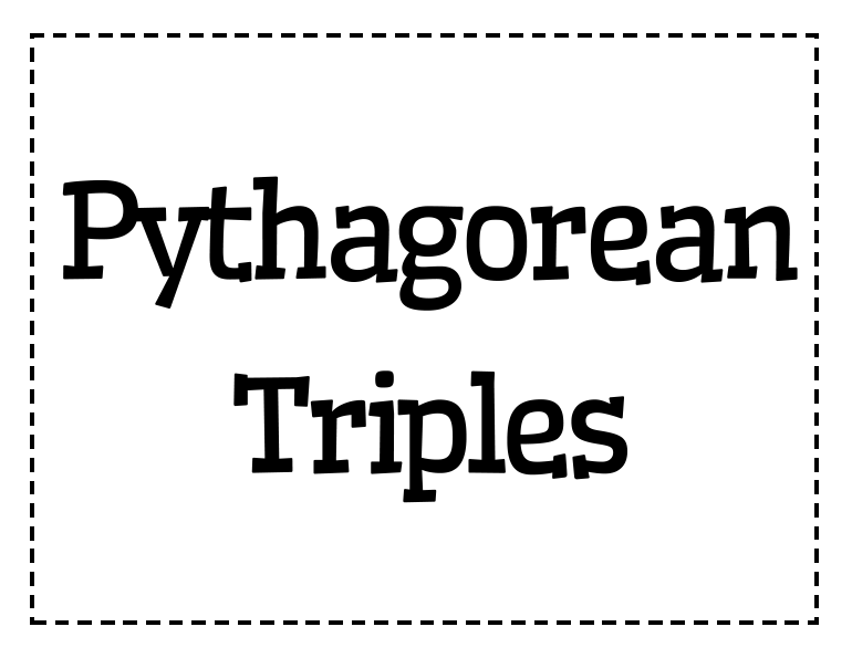 pythagorean triples Pythagorean triples [including multiples] up to 2100: note: this data file is tab separated for transfer to a word processor or spreadsheet alternatively here is all this data in a spreadsheet is there a formula to find them all take any m and n, such that mn and then find: 2mn, m² − n², m² + n² this find all the primitives.