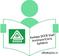 Kadapa DCCB Staff Assistant Syllabus