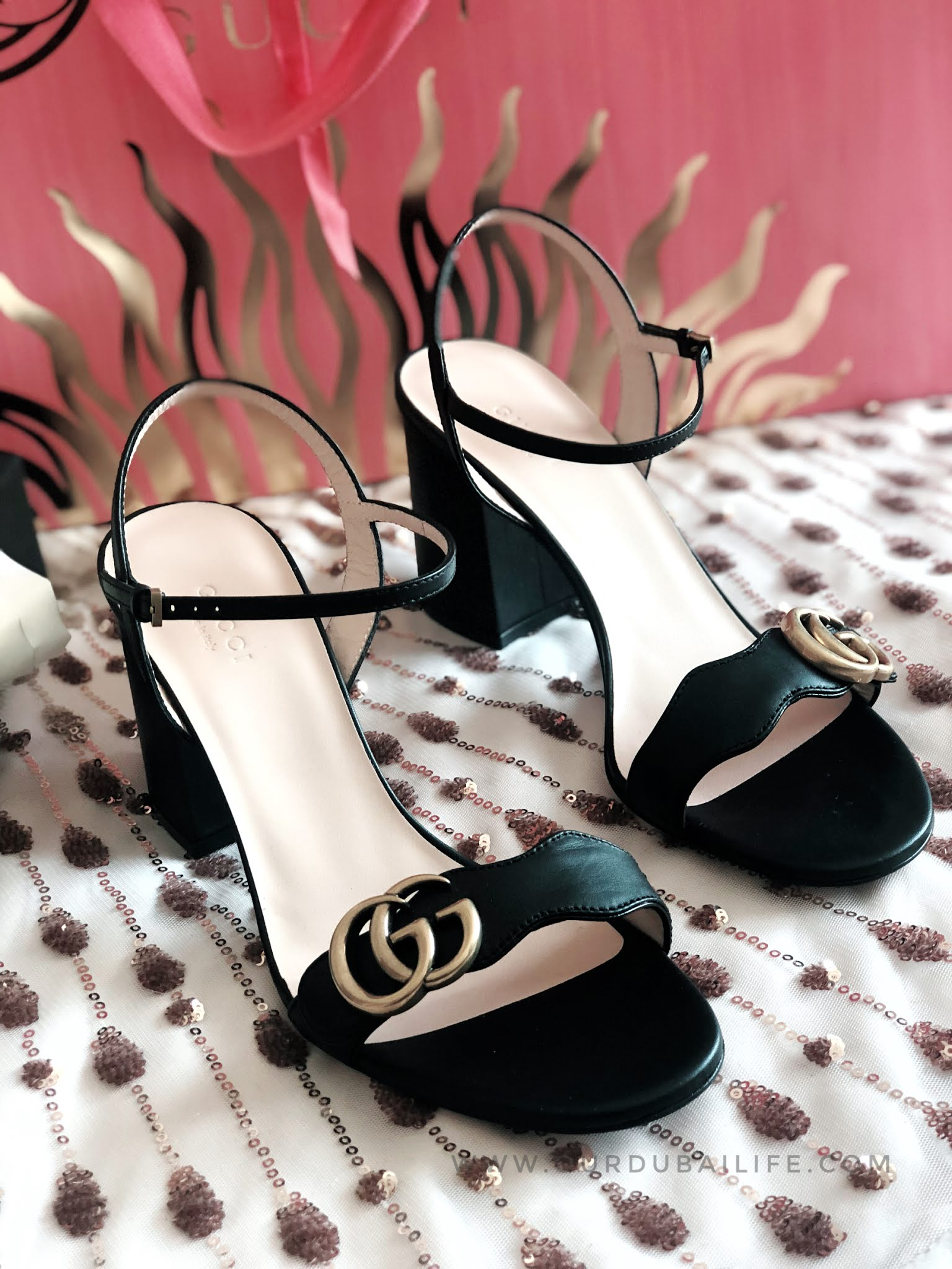 GUCCI MARMONT black sandals