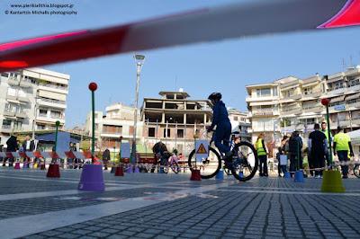 Ποδηλασία στην αυτοσχέδια Διαδρομή Κυκλοφοριακής Αγωγής. (ΒΙΝΤΕΟ)