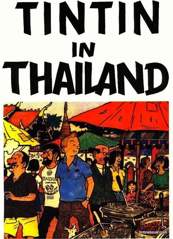 Tintin in Thailand Cover