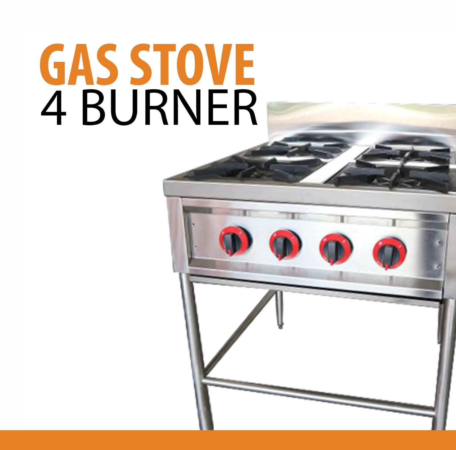 Jual Gas Stove 4 Tungku Body Stainless
