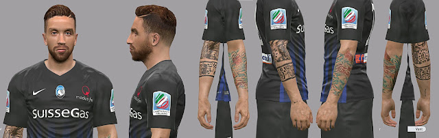 PES 2017 Papu Gomez face by Litos Facemaker