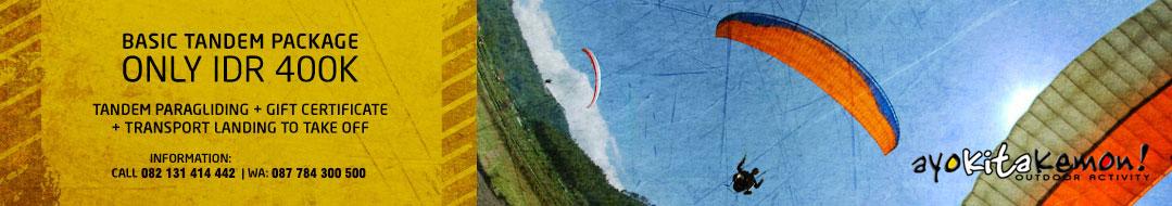 paket tandem paralayang atau paragliding