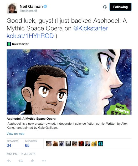 Spotlight - Asphodel: A Mythic Space Opera