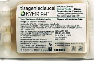 pareri pozitive Kymriah tisagenlecleucel tratamentul leucemiei limfoblastice