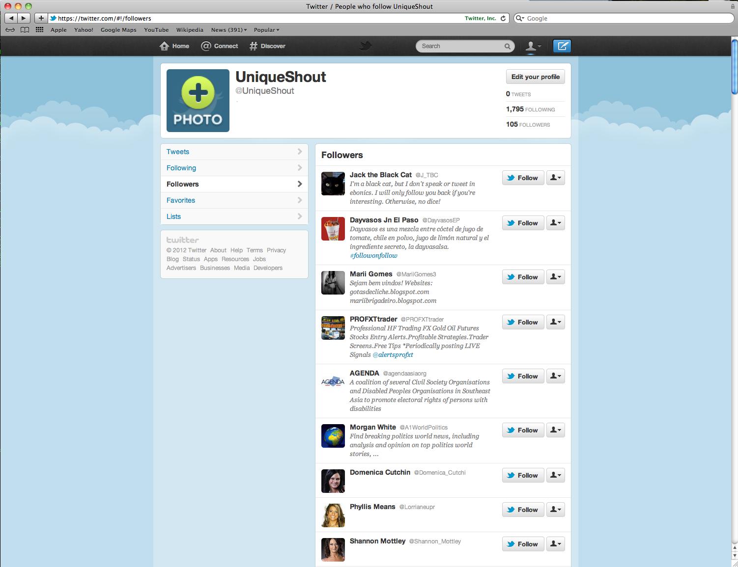 Blank Twitter Page | www.imgkid.com - The Image Kid Has It!