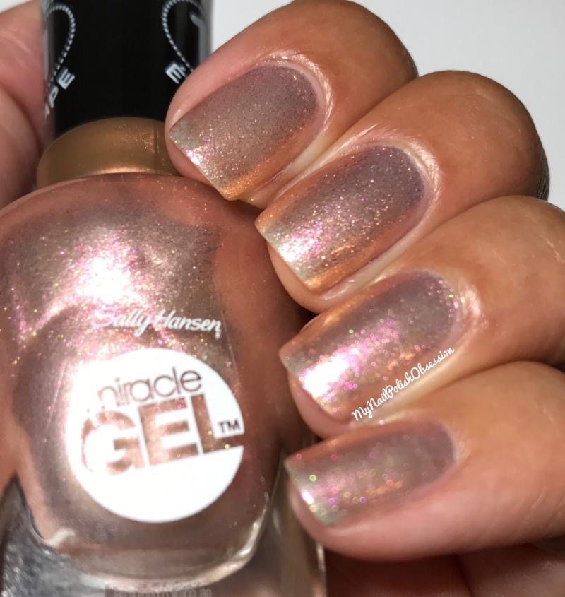 The Polish Is A Sheer Rose Gold Shimmer With Pink And Sparkles Formula Was Little Thin As You Can See It S Pretty