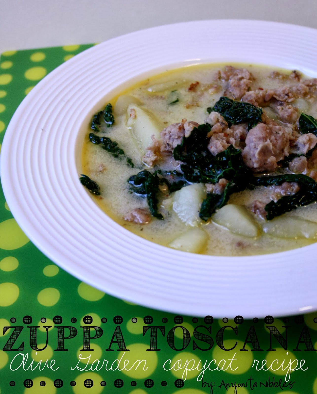 Kale, Sausage & Potato Soup | Anyonita Nibbles