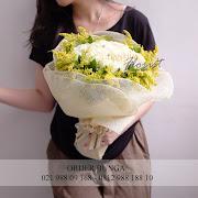 bouquet rose putih