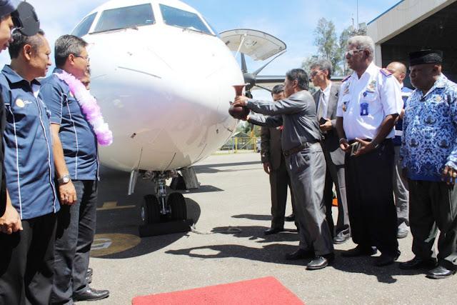 Garuda Buka Rute Penerbangan Timika-Nabire-Biak