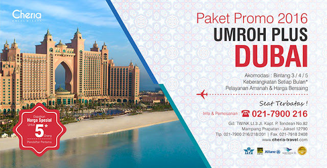 Umroh Plus Dubai Tahun 2016-2017