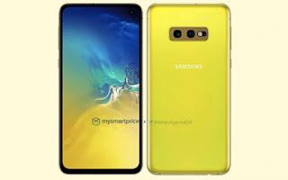هاتف Samsung Galaxy S10e بلون أصفر كناري