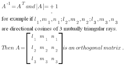 A is orthogonal matrix