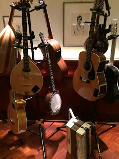 Instruments from the Versatility Serenaders' set-up at the Wigmore Hall Twitter Party