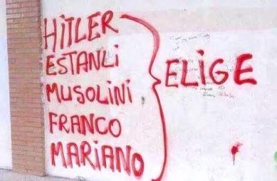 Hitler , Estanli, Musolini, Franco, Mariano, elige