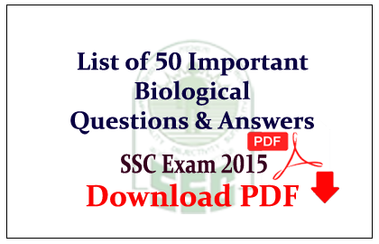 List of 50 Important Biological Questions and Answer