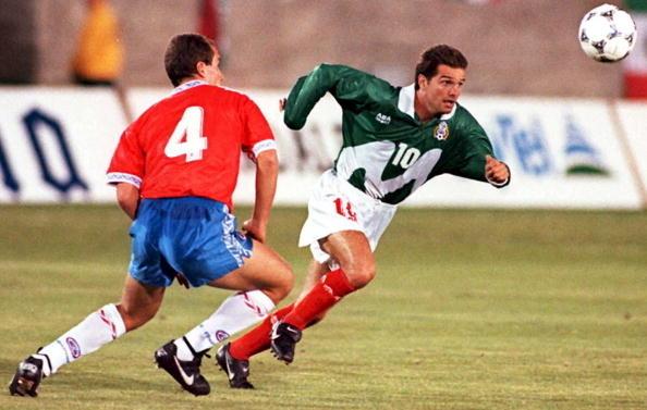 México y Chile en partido amistoso, 29 de marzo de 1995