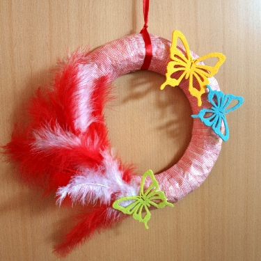 Red Wreath with Butterfly | Washi Tape Ideas | Creative Ways To Use Washi Tape