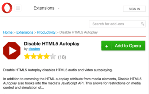 disable autoplay video in opera