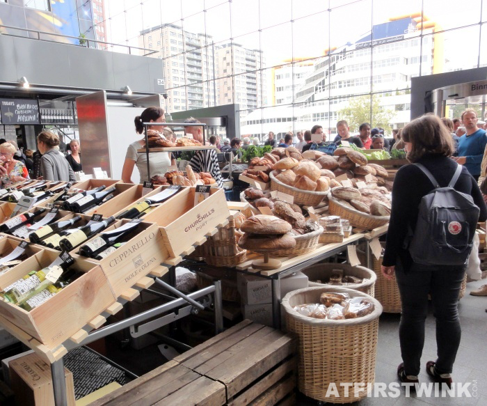 wine and bread | Markthal in Rotterdam