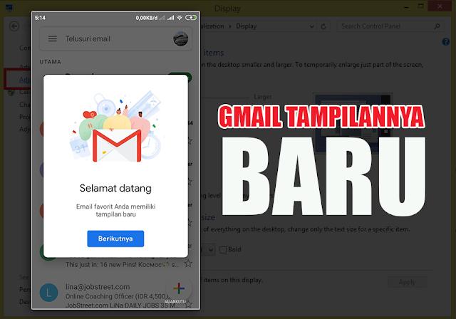 Tampilan Gmail Update Terbaru