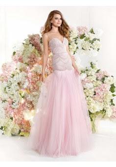 Corte Sirena En U Tul Hasta el Suelo Vestidos de Fiesta/Vestidos de Noche Con Diamante de Imitación #SP952