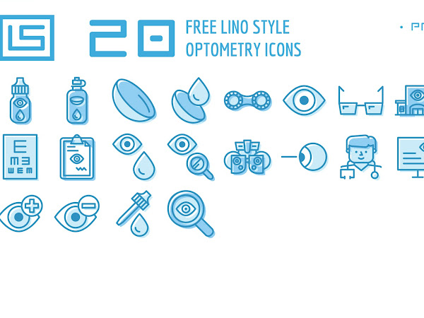 20 Optometry Icons Set Free Download