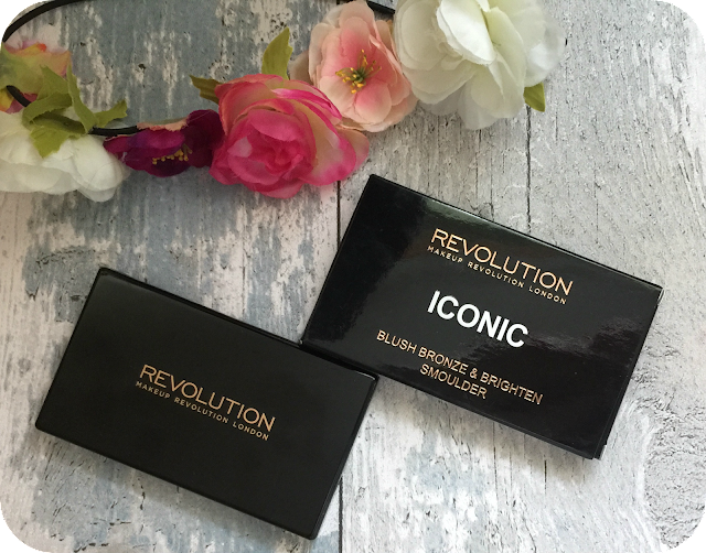 Makeup revolution iconic blush bronze and brighten smoulder palette